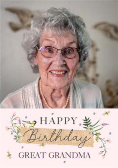 Okey Dokey Design Happy Birthday Great Grandma Photo Upload Card
