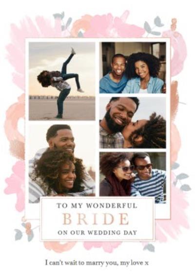 Wedding Card - To My Wonderful Bride - On Our Wedding Day - Photo Upload