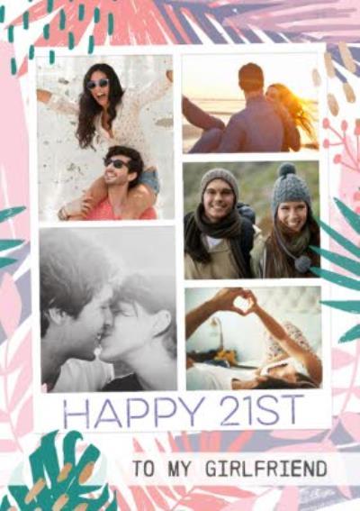 Photo Upload 21st Birthday Card To My Girlfriend