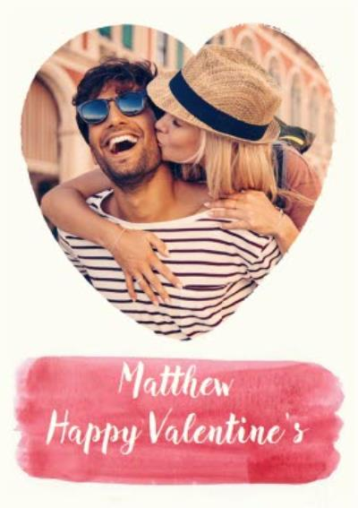 Heart Shaped Photo Upload Personalised Happy Valentine's Day Card