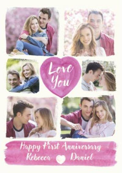 Anniversary Card - First Anniversary - Photo Upload