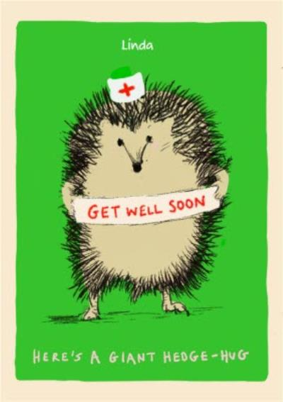 Get Well Soon Hedgehog Card