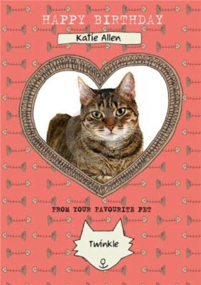 From Your Favourite Pet Photo upload Birthday Card