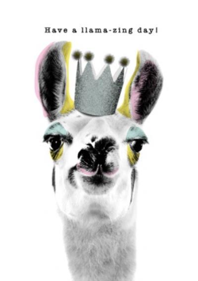 Modern Design Have A Llama Zing Day Card