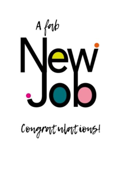 Modern Typographic A Fab New Job Card