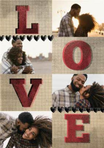 Love Letters Personalised Photo Upload Happy Valentine's Day Card