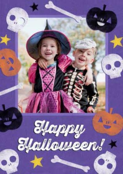 Halloween Stamps Photo Card