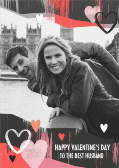 Paper Love Best Husband Valentines Photo Upload Card