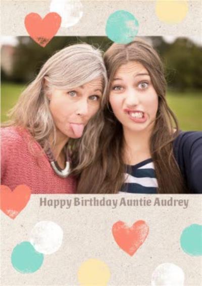 Birthday Card - Photo Upload Card - Auntie