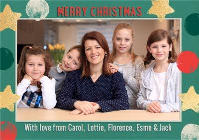 From The Family Stars Photo Upload Christmas Card