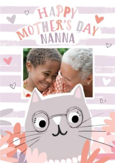 Cute Modern Mother's Day Photo Upload Card For Nanna