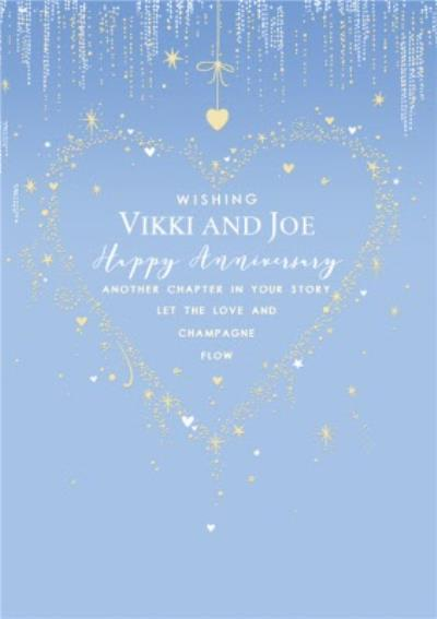 Enchanted Happy Anniversary Another Chapter In Your Story Anniversary Card