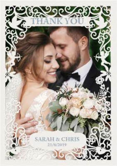 Wedding Card - Photo Upload - Thank You - Paper Frame