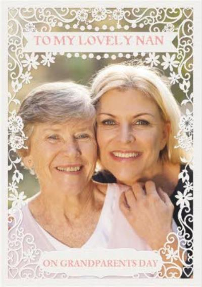 To my lovely Nan on Grandparents Day photo upload design