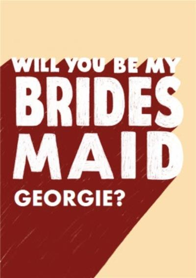 Typographic Bridesmaid Card