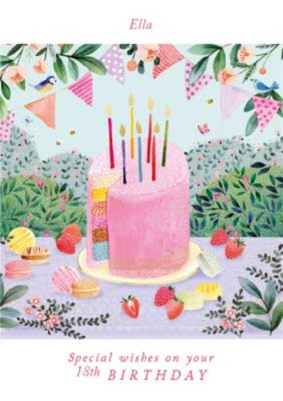 Pigment Illustrated Special Wishes On Your Birthday Card