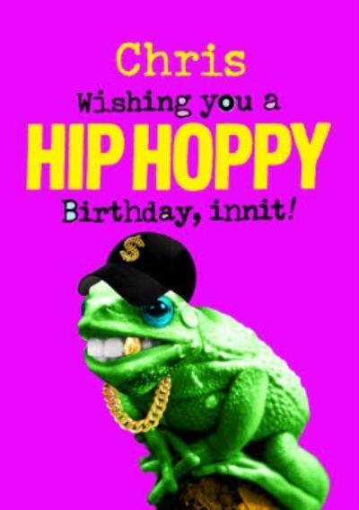 Lizard Wishing You A Hip Hoppy Birthday Card