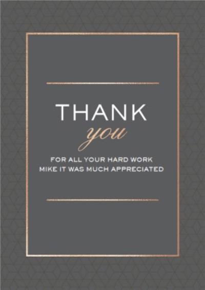 Modern Geometric Foil Thank you Card