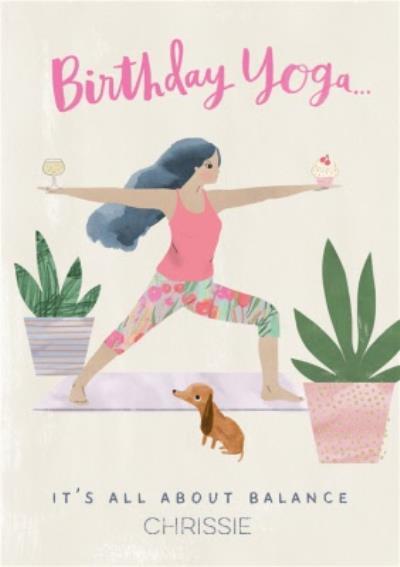 Pigment Hey Girl Birthday Yoga Birthday Card