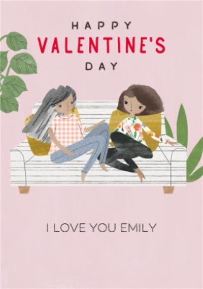 Pigment Hey Girl Character I Love You Valentines Day Card