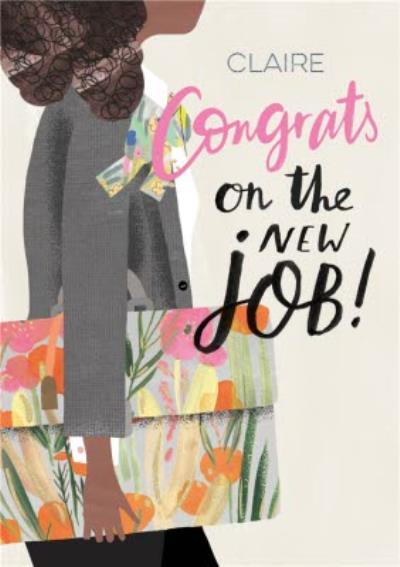 Pigment Hey Girl Character Congrats On The New Job Card