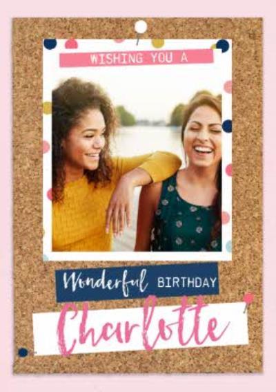 Birthday Photo Upload Card for her - Wonderful Birthday