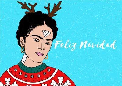 Illustration Feliz Navidad Christmas Card