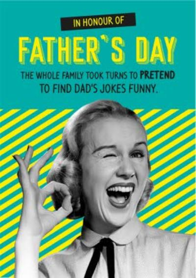 In Honour Of Fathers Day Card