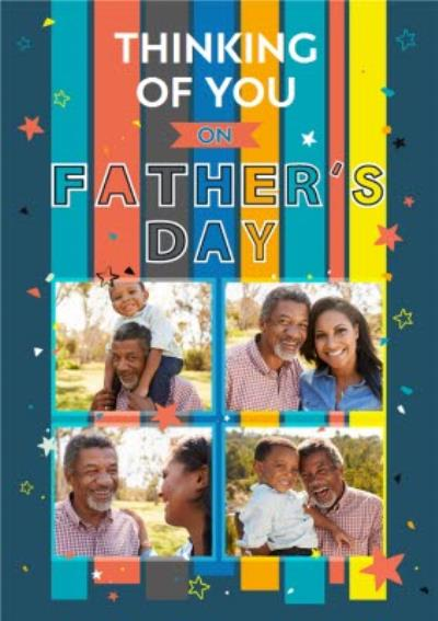 Thinking Of You On Father's Day Photo Upload Card