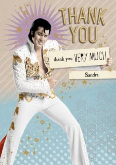 Elvis Personalised Thank You Very Much Card