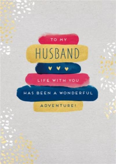 Husband Life With You Has Been A Wonderful Adventure Card