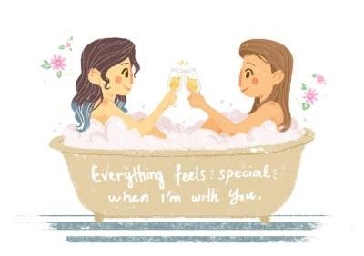 Pink Daisies Everything Feels Special With You Card