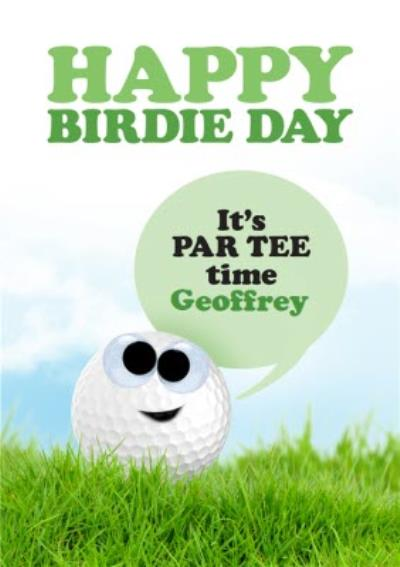 Golf Ball Happy Birdie Day Card