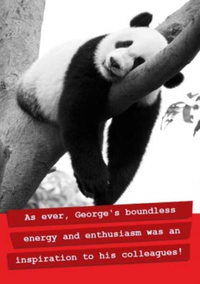 Funny Panda Personalised Name Card