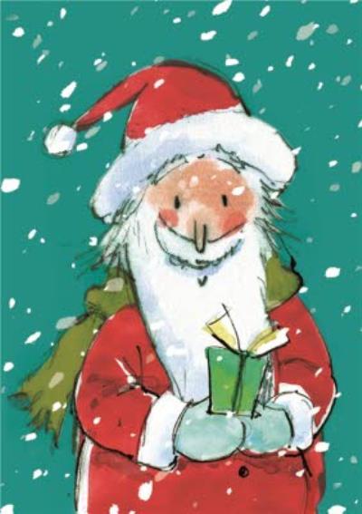 Santa In The Snowfall Personalised Happy Christmas Card