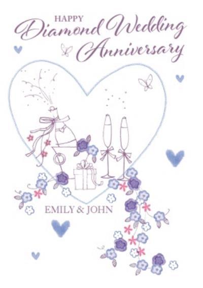 Anniversary Card - Happy Diamond Wedding Anniversary
