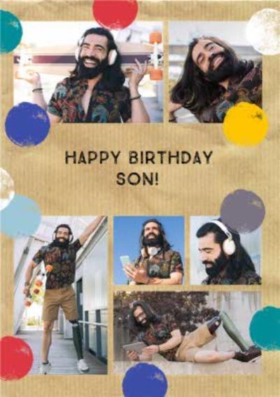 Photo Upload Birthday card - Son