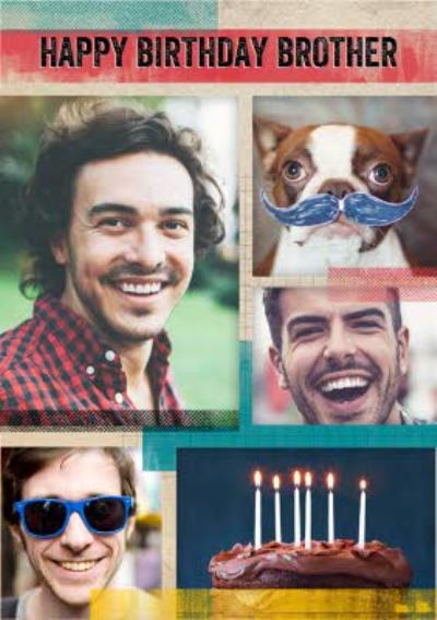 Multiple Photo Upload Brother Birthday Card