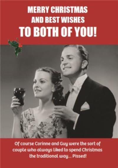 Drinking During The Festive Season Funny Happy Birthday Card
