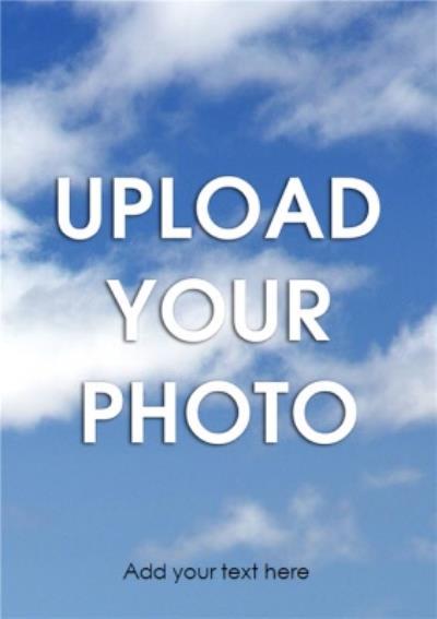 Classic Portrait Personalised Photo Upload Card