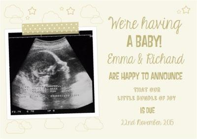 We're Having A Baby Announcement Card