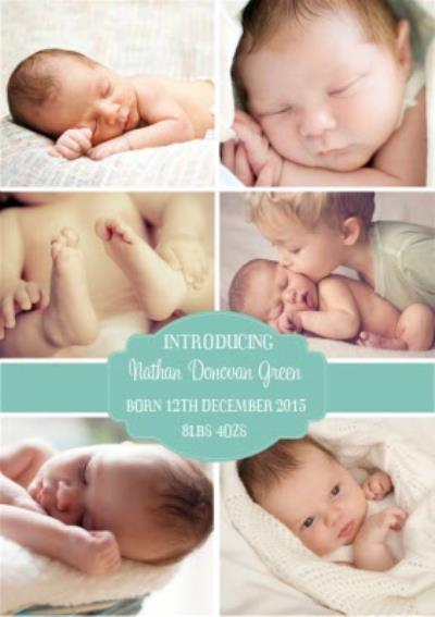 New Baby Announcement Photo card