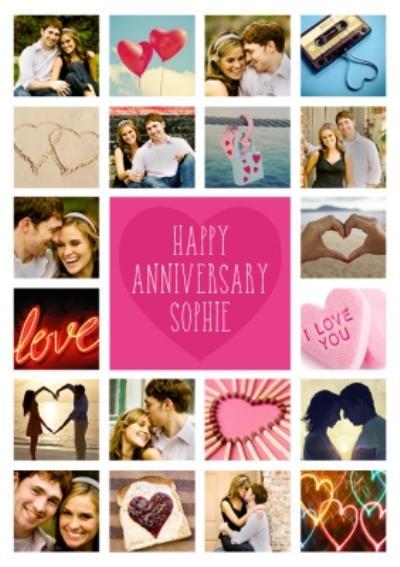 Happy Anniversary Card - Photo Upload Card