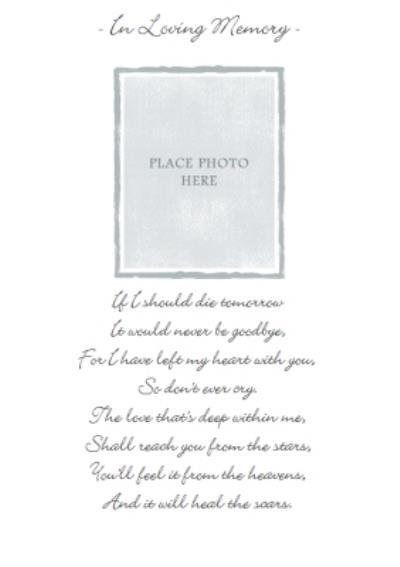 In Loving Memory Photo Upload Card
