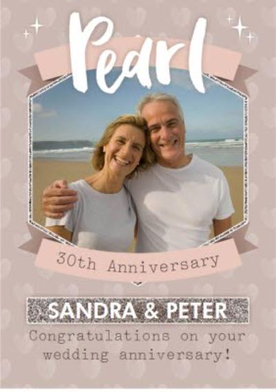 Pearl 30Th Anniversary Card