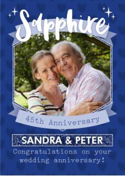 Sapphire 45Th Anniversary Card