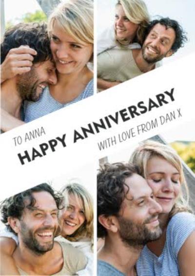 Happy Anniversary 4 Photo Upload Card