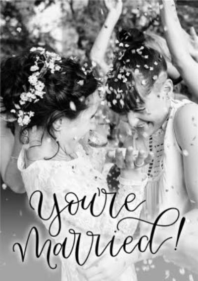 Wedding Card - Photo Upload - You're Married