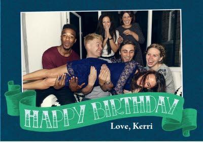Birthday card - photo upload card