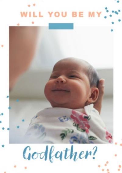 Photo upload card - New baby - Godfather